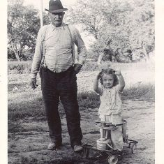 Kathleen with her grandfather Mike Tesker